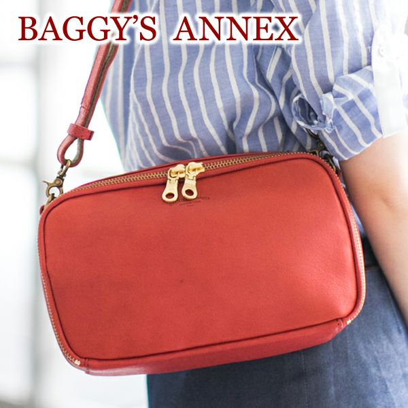 BAGGY'S ANNEX バギーズアネックス Wオイル ミニショルダーバッグ LGRN-2000