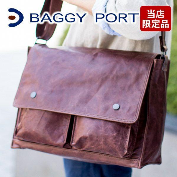 BAGGY PORT バギーポート ホースレザー ショルダーバッグ (大) (メッセンジャーバッグ) SMT-459